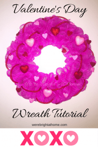 Welcome To My Valentine S Day Deco Mesh Wreath Tutorial All Materials Used In This Are From The Dollar Tree I Wanted Look A Little