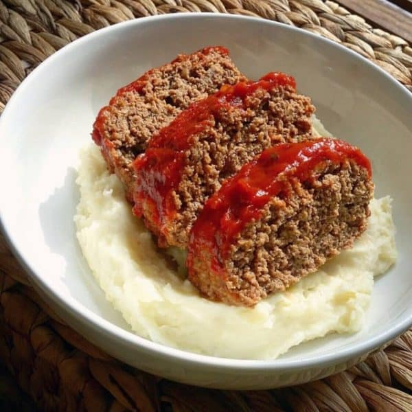 Meat loaf mashed potatoes