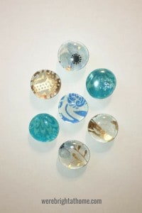 DIY Glass Gem Magnets