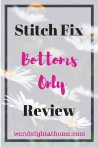 Stitch Fix Review Bottoms Only