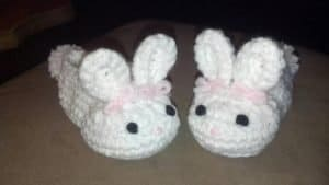 Crochet Bunny Slippers