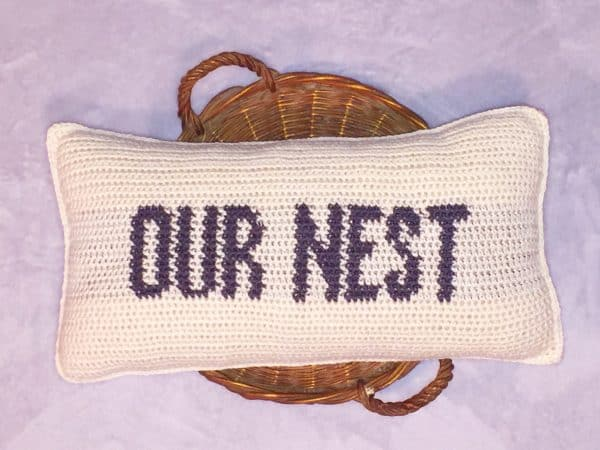 Our Nest Pillow Crochet Pattern