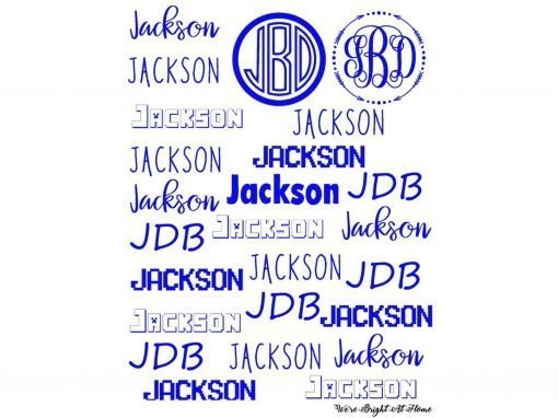 Name Decals For Sale