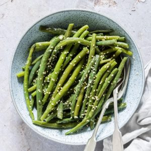 Garlic Butter Sesame Instant Pot Green Beans