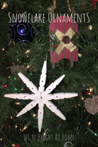 Snowflake Ornament from Clothespins