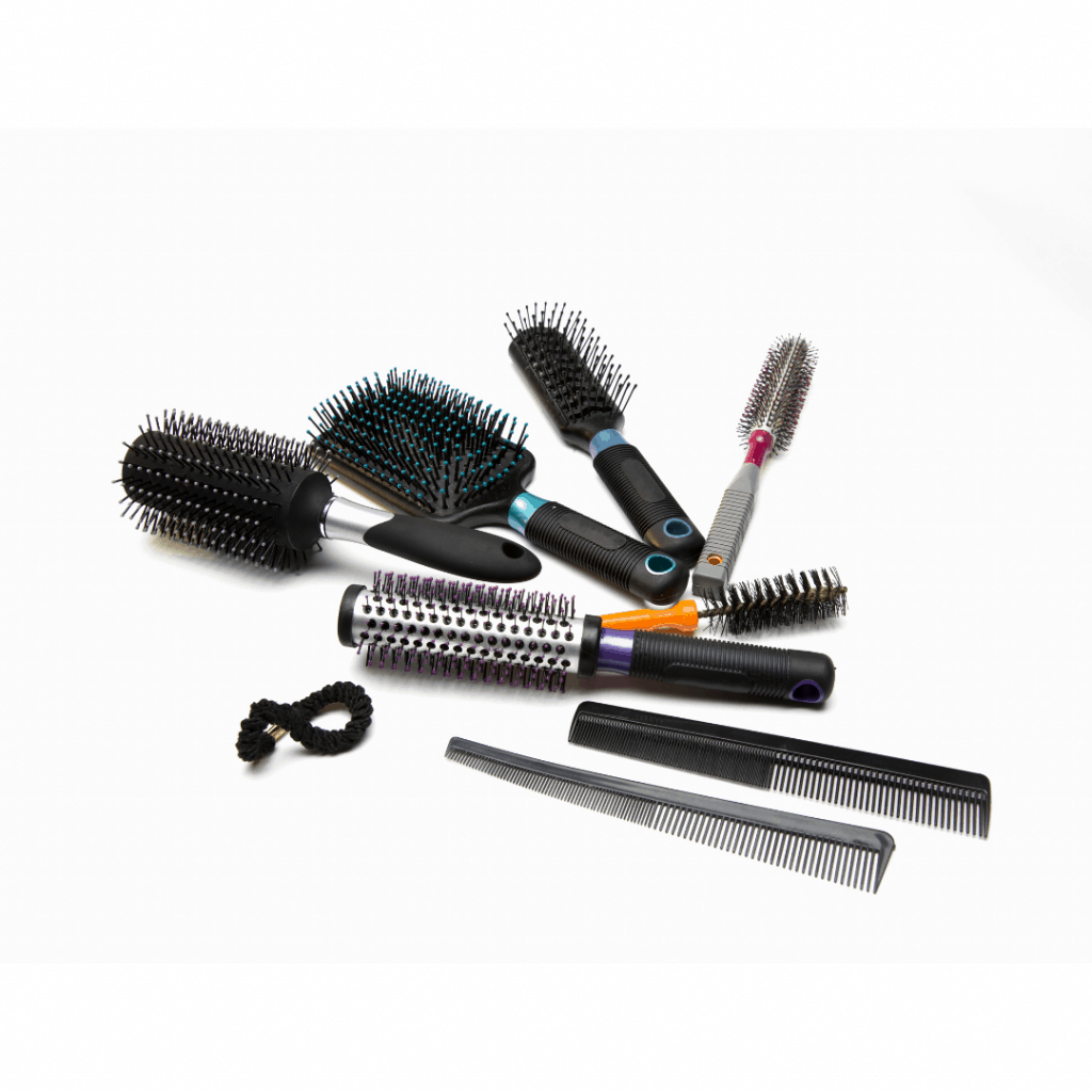 Clean hair brushes and combs